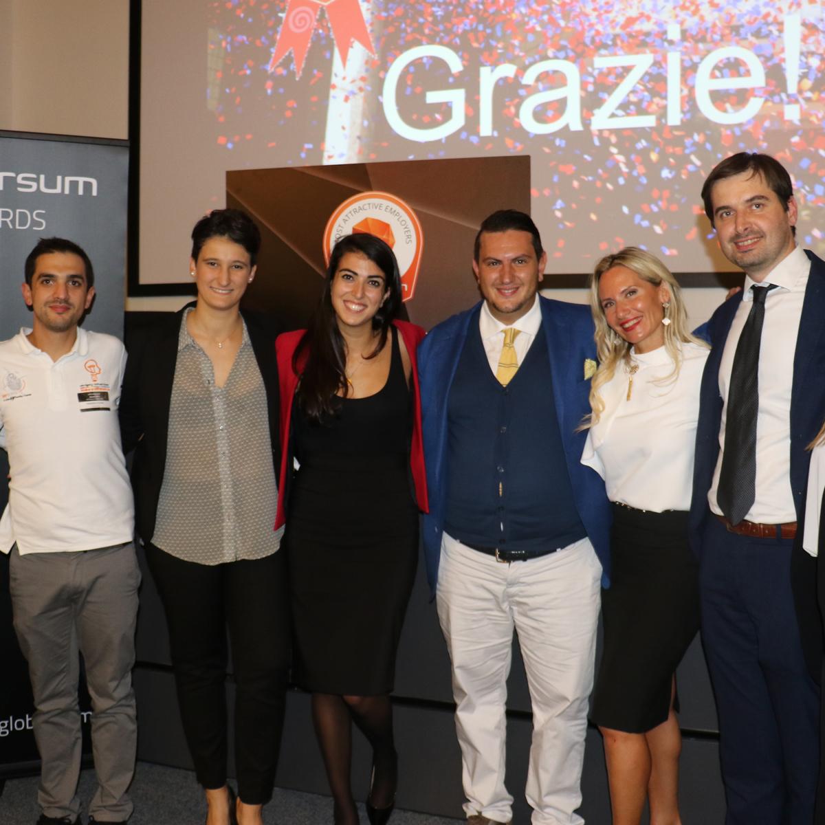 Sebastiano Scarlata, Vittorio Fidotta e Paolo Beretta – Co Founder di INTERACTION FARM® - insieme al team Universum per l'Italia
